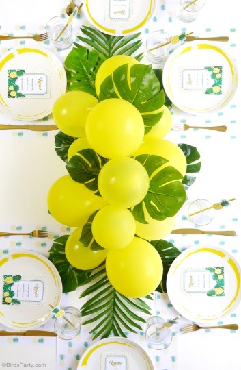 How to throw a Tropical Party with these 19 DIY ideas. Have an awesome summer celebrating birthday or just the warm summer weather with bright and colorful tropical party ideas. Choose from flamingoes to pineapples add a modern touch or bring back the retro vibe with these DIY tropical party ideas! This is how you celebrate summer! #tropicalpartyideas #tropical #DIYpartyideas