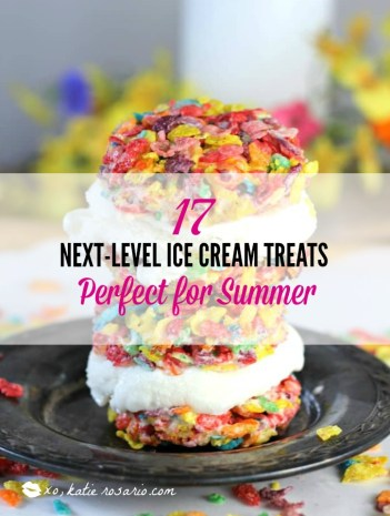 Summer is here and that means it's officially HOT! Ice cream is the perfect way to stay cool all summer long. Find how easy it is to make 3 ingredient no churn ice cream that full of bright fruit flavor and recipes for ice cream cakes that use ice cream cookie sandwiches that will satisfy your sweet tooth! Here's 17 ice cream treats that are totally easy to make at home this summer! #icecreamtreats #nochurnicecream #summerrecipes