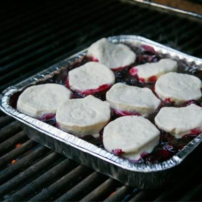 Grilled Blueberry Cobbler | Grilled Desserts Recipes