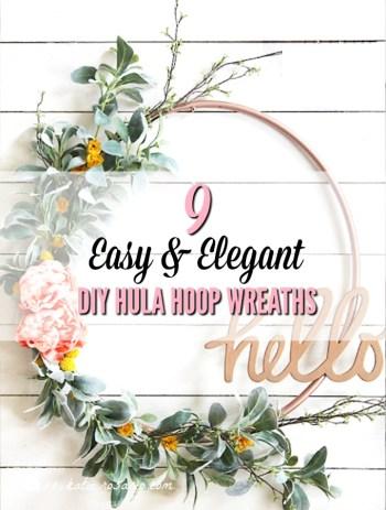 DIY Hula Hoop Wreaths
