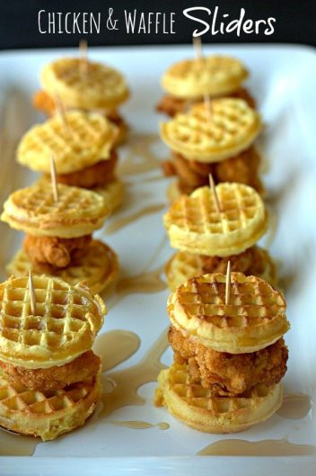 Easy Chicken & Mini Waffles | Easy Brunch Recipes