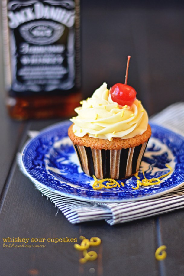 Whiskey Sour Cupcakes, Cocktail Inspired Dessert Recipes