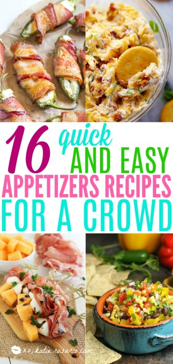 Quick Appetizers for Easy Entertaining