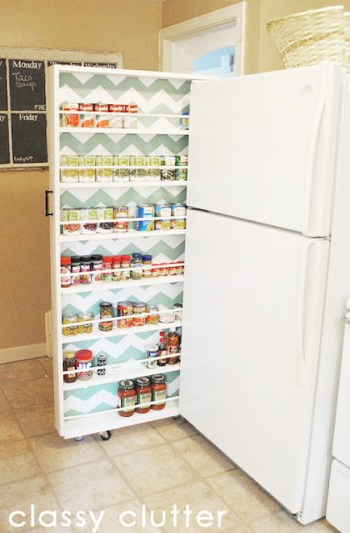 DIY Rolling Pantry | DIY Small Space Living Hacks