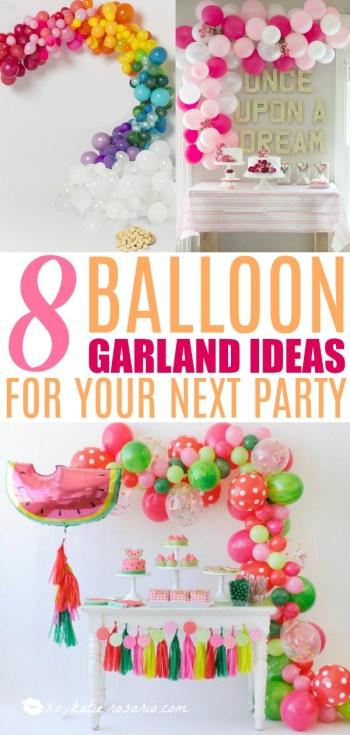 DIY Balloon Arch Garland