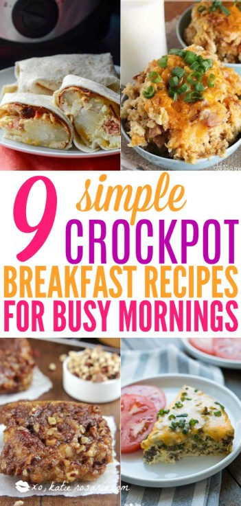 Crockpot Breakfast Recipes Busy Morning