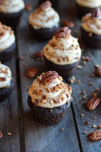 Chocolate Bourbon Butter Pecan Frosting Cupcakes Favorite Desserts