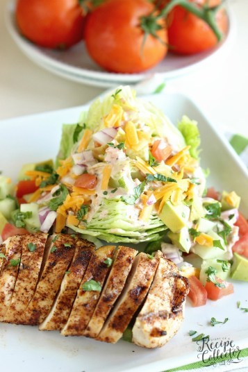 Chicken Faijta Wedge Salad | Low Carb Lunch Recipes