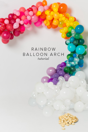 Rainbow Balloon Arch | How to Make Balloon Arch
