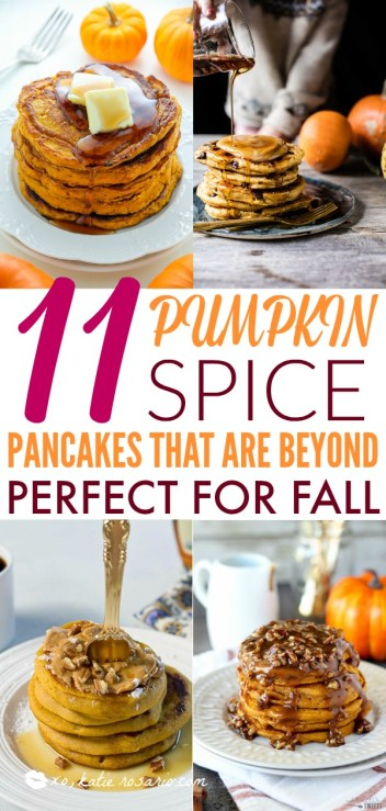 11 Pumpkin Spice Pancakes That Are Beyond Perfect For Fall | Pumpkin Spice Pancake Recipes