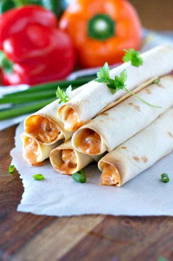 4 Ingredient Chicken Taquitos | Football Game Day Snacks