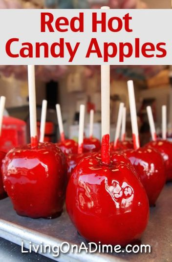 Red Hot Candy Apples | Halloween Candy Apples