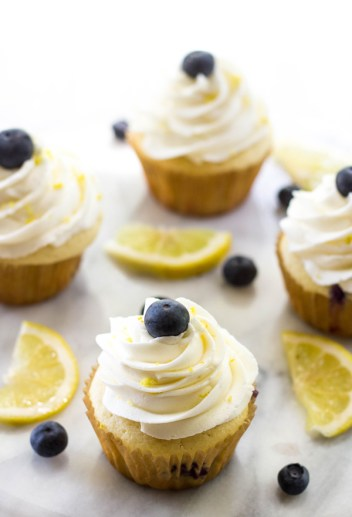 Lemon Blueberry Cheesecake Cupcakes | Cheesecake Stuffed Desserts