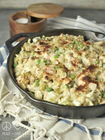 Low Carb Tuna Noodle Cabbage Casserole | Low Carb Keto Casserole