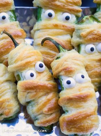 Jalapeno Popper Mummies | Halloween Party Appetizers