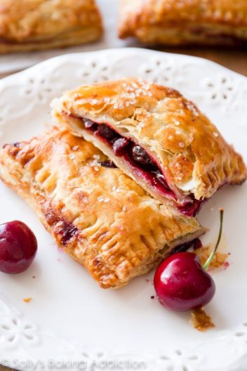 Simple Puff Pastry Cherry Pie | Easy Puff Pastry recipes