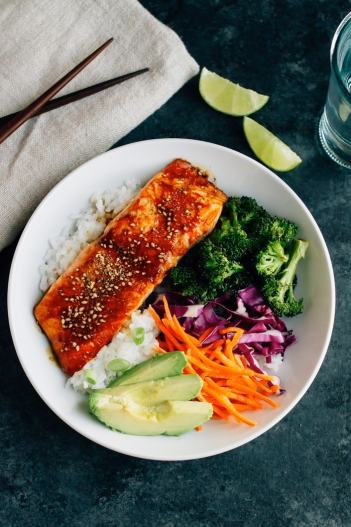 Teriyaki Salmon Bowls | Low Maintenance Weeknight Dinner Ideas