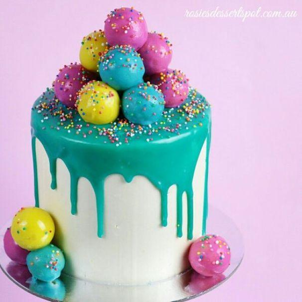 Cake Pop Drip Cakes | Easy Drip Cakes