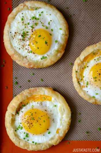 Baked Eggs Puff Pastry Breakfast | Easy Puff Pastry Recipes