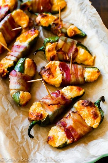 Cheesy Stuffed Jalapeno Peppers | Easy Fall Party Appetizers and Snacks