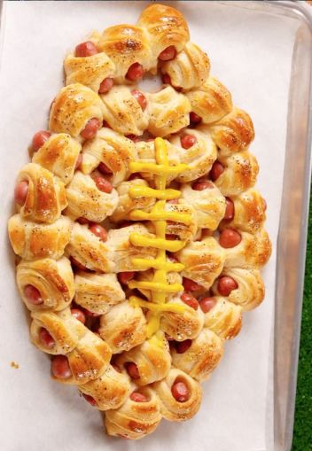 Pigskin in a Blanket | Football Game Day Snacks