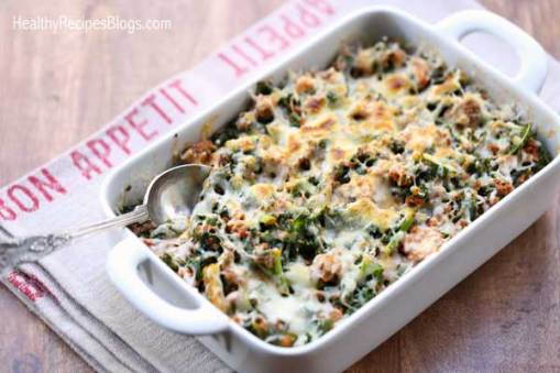 Ground Beef and Kale Casserole | Low Carb Keto Casserole