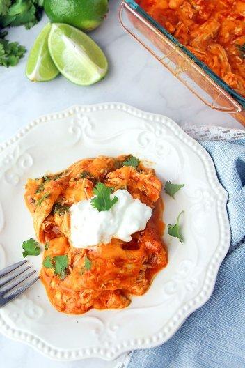 Low Carb Keto Chicken Enchiladas | Low Carb Keto Casseroles