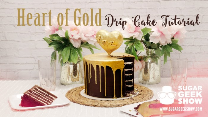 Heart of Gold Drip Cake | Easy Drip Cakes