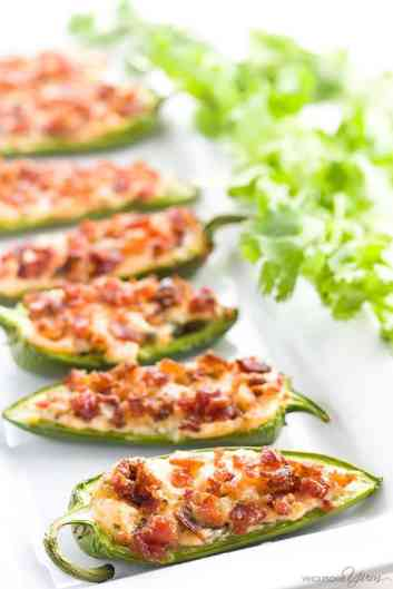 Jalapeno Poppers with Cream Cheese and Bacon | Football Game Day Snacks