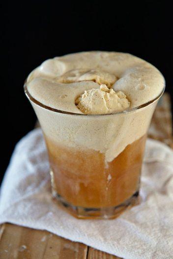 Pumpkin Hard Apple Cider Float | Spooky Halloween Cocktails