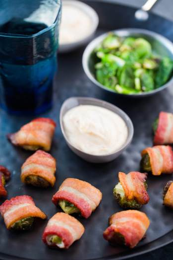 Brussels Sprouts Bacon Bites with Aioli | Keto Small Bites & Snack Recipes