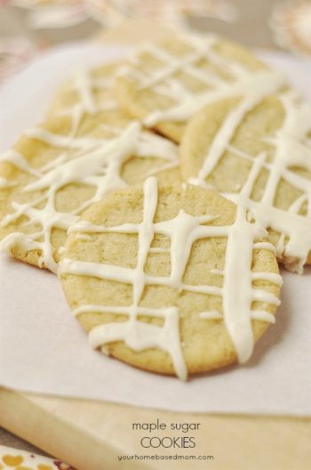 Maple Sugar Cookies | Fall Cookie Recipes