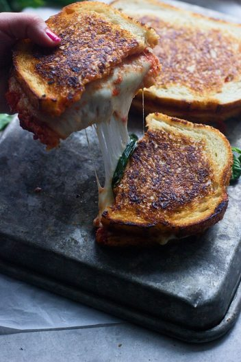 Pizza Margherita Grilled Cheese | Gourmet Grilled Cheese Recipes