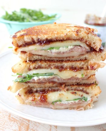 Prosciutto Provolone Fig Grilled Cheese | Gourmet Grilled Cheese Recipes