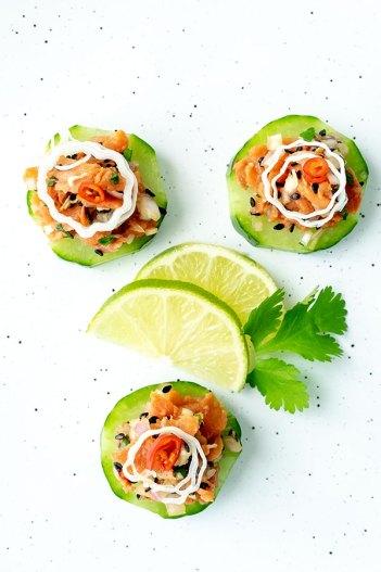 Smoked Salmon Tartare Bites   Keto Small Bites & Snack Recipes