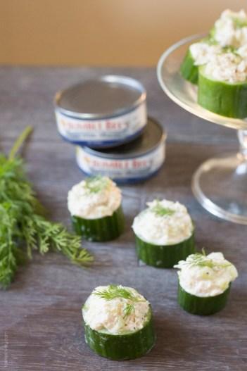 Tuna in Cucumber Cups | Keto Small Bites & Snack Recipes