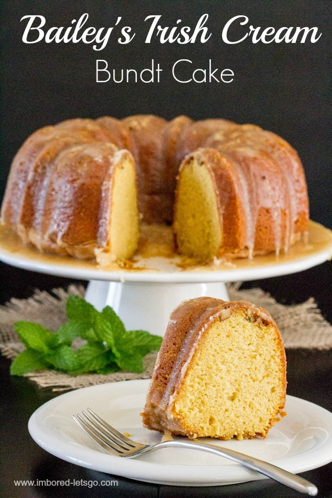 Bailey's Irish Cream Bundt Cake | Bailey's Irish Cream is an Irish dairy cream drink with chocolate and Irish whiskey, it's become a staple on St. Patrick's Day. It's easy to use Irish cream in dessert recipes because of its chocolate cream flavors. Bailey's Irish cream desserts are simple and delicious! #xokatierosario #baileysirishcream #irishcream #stpatricksdaydesserts