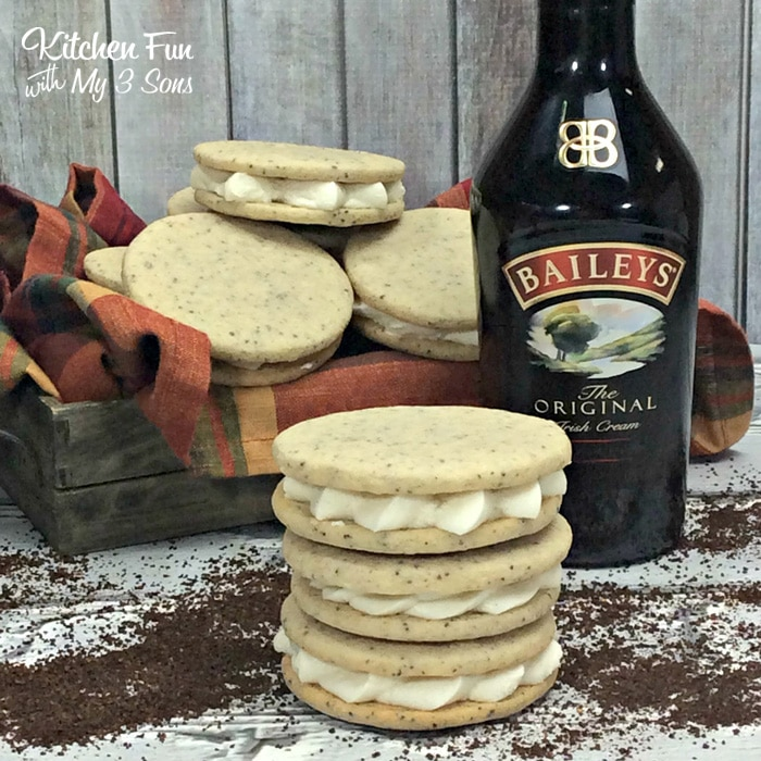 Bailey's Irish Cream Coffee Cookies | Bailey's Irish Cream is an Irish dairy cream drink with chocolate and Irish whiskey, it's become a staple on St. Patrick's Day. It's easy to use Irish cream in dessert recipes because of its chocolate cream flavors. Bailey's Irish cream desserts are simple and delicious! #xokatierosario #baileysirishcream #irishcream #stpatricksdaydesserts