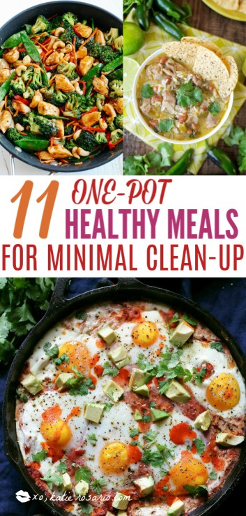 This is for those who are looking for healthy easy recipes with minimal cleanup. The solution is easy, making one pot healthy meals. Choose from one pot recipes like Cashew Chicken Stir Fry, Spicy Thai Noodles, or Mexican Rice Casserole! These one pot healthy dinners are sure to make cooking on a busy weeknight so much easier. #xokatierosario #onepothealthymeals #easyonepanrecipes #easyhealthymeals