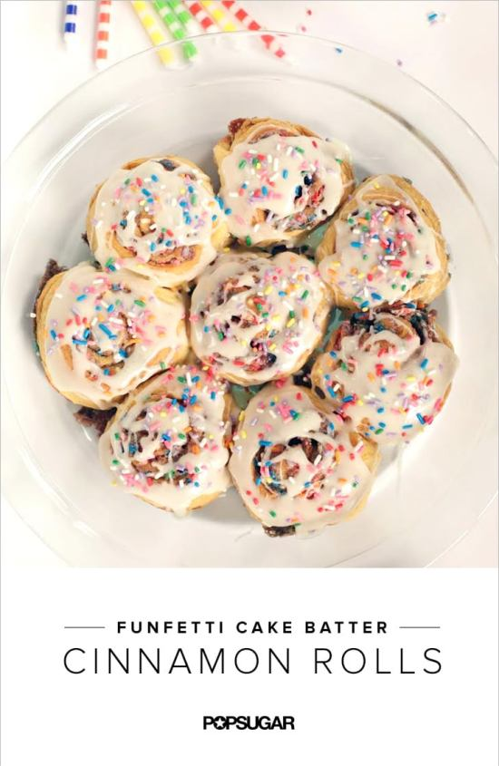 Funfetti Cake Batter Cinnamon Rolls | Do you wish that every day can be your birthday? Making funfetti birthday cake is like celebrating your birthday anytime you want. Funfetti birthday cake is a moist vanilla cake that is studded with rainbow sprinkles, so it looks like confetti. You can choose from cinnamon rolls, biscotti, whoopie pies, and even white hot chocolate! #xokatierosario #funfettibirthdaycake #birthdaycakedesserts #funfetticakedesserts