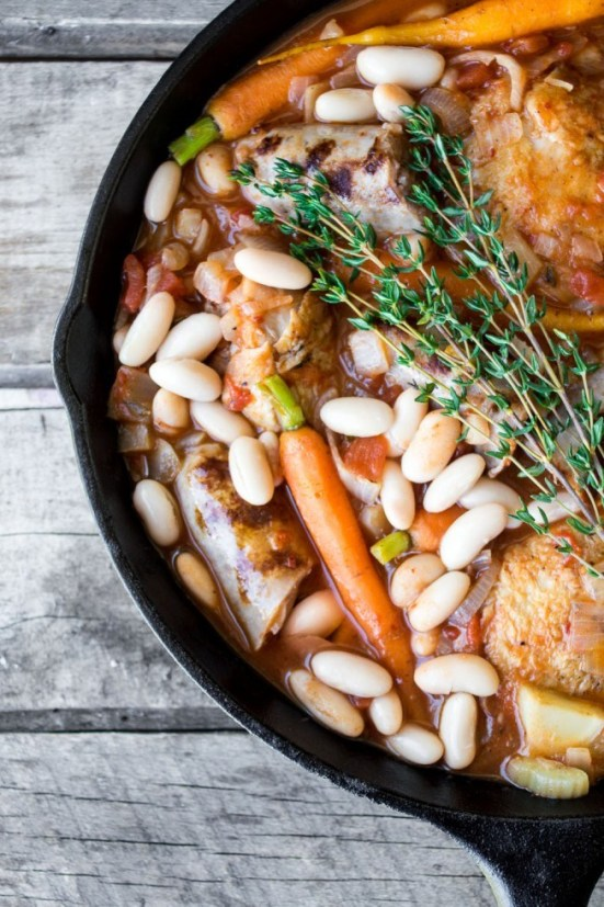 Cassoulet | Learn how to make these traditional French recipes for yourself without taking hours or complicated techniques. These quintessentially French dishes are simple for every home cook to feel like a top chef. Here are 12 Classic French Dishes That'll Take One Hour or Less To Make! #xokatierosario #quickfrenchrecipes #frenchdishes #easyfrenchcooking
