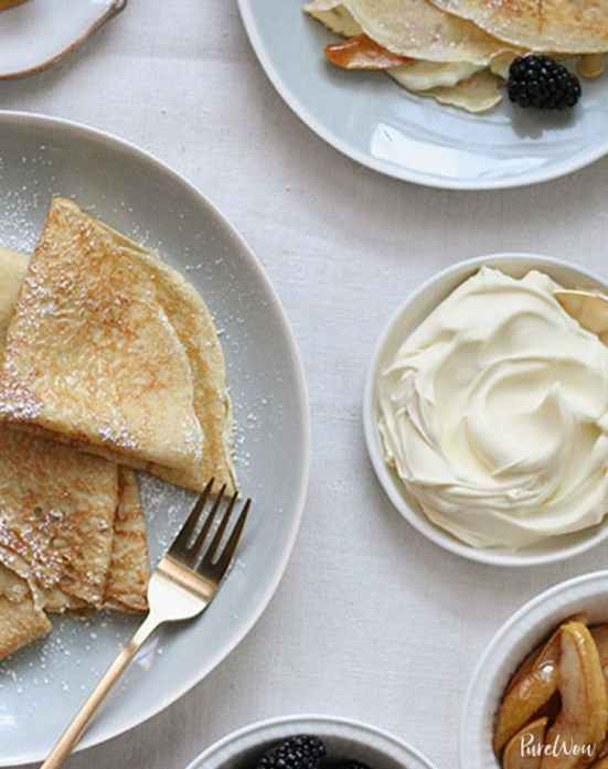 Sweet Crepes with Caramelized Pears   Learn how to make these traditional French recipes for yourself without taking hours or complicated techniques. These quintessentially French dishes are simple for every home cook to feel like a top chef. Here are 12 Classic French Dishes That'll Take One Hour or Less To Make! #xokatierosario #quickfrenchrecipes #frenchdishes #easyfrenchcooking