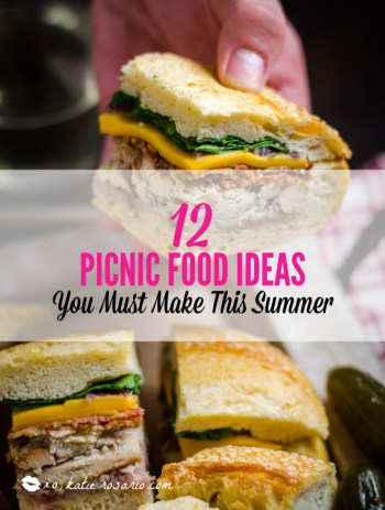 Looking for quick and refreshing picnic recipes? You must try these picnic recipes that are perfect for making ahead of time and eating outdoors. With these summer picnic recipes, all the work is done ahead of time, prepare these delicious recipes at home before storing them in a cooler to take with you. #xokatierosario #picnicrecipes #picnicfoodideas #outdoorentertaining