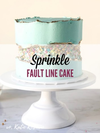 The fault line cakes are beautiful; you'll see them made with sprinkles, fresh fruit, and even flowers! In this tutorial, I'll show you how to make your own sprinkle fault line cake! This sprinkle fault line cake is made with soft layers of dark chocolate cake and creamy vanilla buttercream. It's a fun and creative cake that you can make your own. You can change up the sprinkle mix or use a different color buttercream. #xokatierosario #sprinklefaultlinecake #faultlinecake #cakedecoratingtipsandtricks
