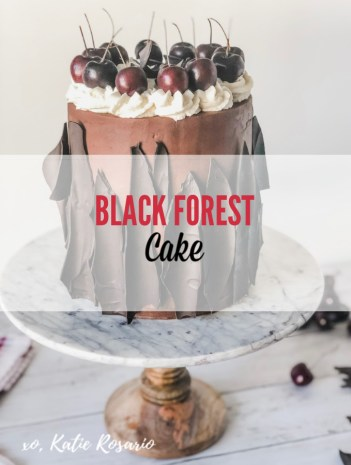Learn how to make this rich Black Forest Cake that celebrates the end of summer and the beginning of fall! To make this bark, we'll use a simple yet impressive technique that you will be able to recreate at home! Learn how to make this simple black forest cake with these cake decorating tips and tricks for beginner bakers. You seriously can't go wrong with the perfect bite it's the ultimate crowd-pleaser dessert! #xokatierosario #cakedecoratingtipsandtricks #blackforestcake #chocolatecakemadefromscratch