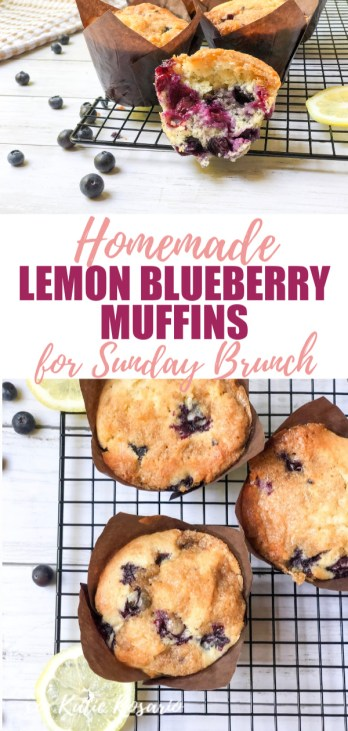One of my favorite ways to use them is making Lemon Blueberry Muffins with Brown Sugar Crumble Topping. These lemon blueberry muffins are so simple that you'll feel like a pro baker. These jumbo muffins are perfect for a weekend brunch or mid-day coffee treat! #xokatierosario #easyblueberrymuffins #jumboblueberrymuffins #blueberrymuffinswithcrumbletopping