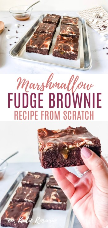 Looking for a crowd-pleasing dessert recipe to share with your friends and family? These Hot Mess Brownies are rich and decadent marshmallow fudge brownies that are insanely delicious. These hot mess brownies will certainly satisfy your sweet tooth. This fudgy brownie recipe is better than boxed brownies. Learn all the tips and tricks for baking brownies from scratch. #xokatierosario #hotmessbrownies #fudgebrownies #browniesmadefromscratch #homemadebrownies