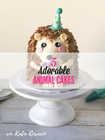 5 Adorable Animal Cakes For Kid Birthday Parties Katie Rosario