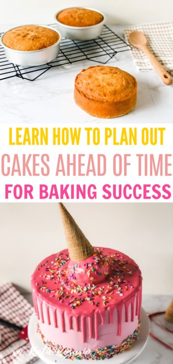 Planning cakes ahead of time have been the key factor in my success over the last ten years. It is the one thing that has saved my butt on multiple occasions. If you follow these steps below, then you will become more organized and reduce the overwhelm. Learn how planning cakes ahead of time that'll reduce kitchen overwhelm #xokatierosario #cakedecoratingtips #bakingtips #decoratecakes