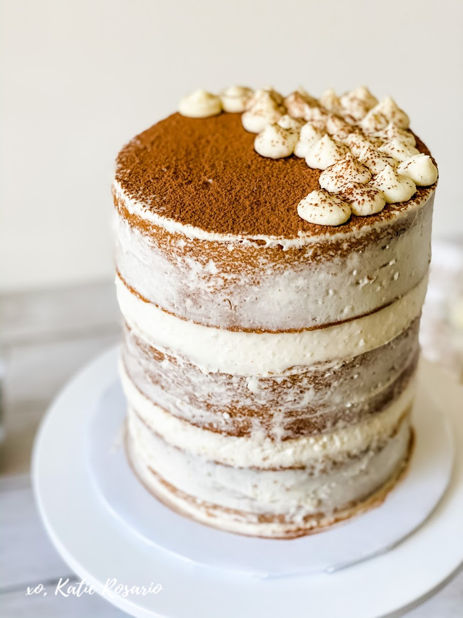 Learn how to make a modern tiramisu cake that is a definite crowd-pleaser. This tiramisu cake has all the traditional flavors of the classic Italian dessert. The beauty of tiramisu is that you can have it year-round, but it's especially perfect for those crisp fall nights and the holiday season. #xokatierosario #tiramisucake #coffeecake #stabilizedwhippedcream #cakedecoratingtips